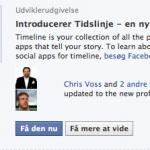 FaceBook TimeLine, del 2 – sådan ser starten ud…..